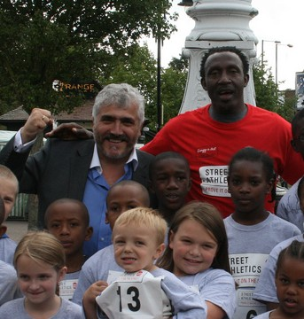 Dope testing: merton council leader Stephen Alambritis posing with the disgraced drug runner, Linford Christie at an event last year