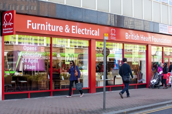 The British Heart Foundation's new store on George Street