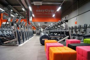 The future's bright: The very orange interior of easyGym Croydon