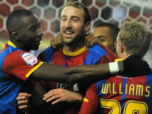Goal celebration: Glenn Murray after one of his 30 goals this season. But scenes such as this have been rare in the past two months