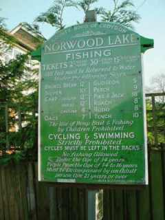 Norwood Lake sign