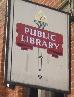 library sign upper norwood
