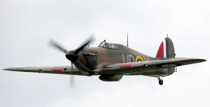 Impressive sight: a WW2 Hurricane, the kind of fighter which was based at RAF Kenley in 1940, and which will feature in this Sunday's commemoration fly-past