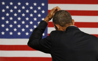Bit of a problem: Parliament's votes on Thursday in London created a bit of a problem for US President Barack Obama