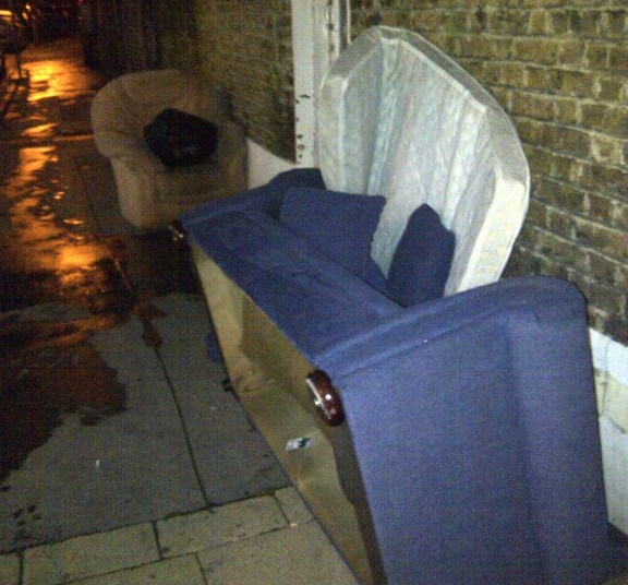 This, too, was spotted in Thornton Heath, earlier in September. Dumping old furniture on the street clearly makes it someone else's problem