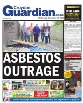 Croydon Guardian front page