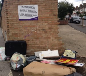 Trafford Road, Thornton Heath: one of the many incidents of fly tipping around Croydon