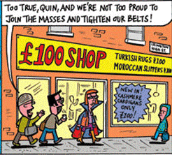 It's Grim UP North London... the Private Eye cartoon strip, by Kerber and Black, has found a lot of easy targets in Yuppiefied Camden and Islington. Is Brixton, or Croydon, following suit?