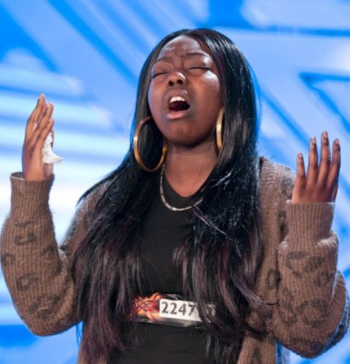 Hannah Barrett, with the tissue she had been using to wipe away her tears still in her hand, gave an impressive X Factor audition