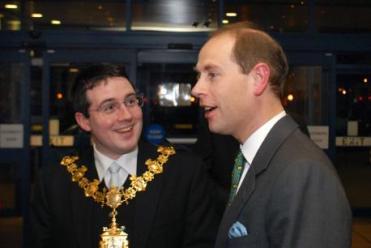"Choice selection: Croydon Tory ""Arthur"" Askey in his time as mayor, meeting Prince Edward"