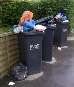 Overflowing bins, due to Croydon's fortnightly collections, help to create the environment that leads to the filthy state of our streets