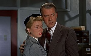 Doris Day with her co-star in The Man Who Knew Too Much, James Stewart