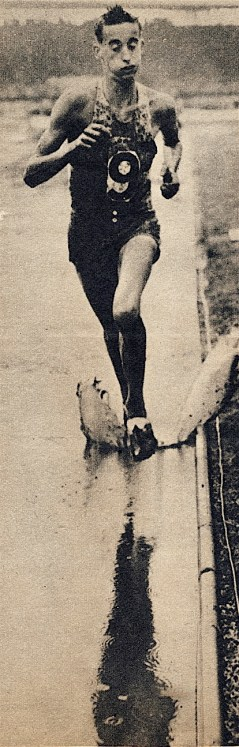 "Gordon ""Puff Puff"" Pirie in typical style, training hard in the 1950s"