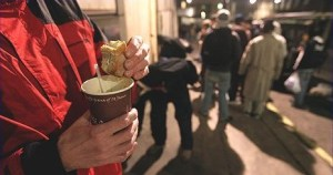 No £15,000 banquets for the dozens of people who rely on the Croydon Nightwatch soup run