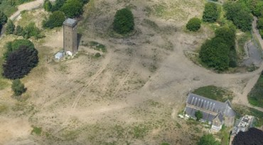 An overview of the Cane Hill site, where only the old chapel and tower remain of the former mental hospital. Barratt's have been given the land to build 650 homes - but so far have not been forced to pay to build roads to access it