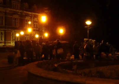 The Croydon NightWatch soup run at Queen's Gardens: for two of his five days sleeping rough, this was Jeff Gridley's only source of food