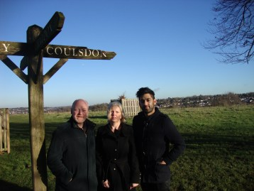 The LibDem candidates for Coulsdon East in May's local elections: Ashley Burridge (left) Gill Hickson and Arfan Bhatti