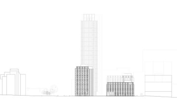 Architects' diagrams of the buildings that CCURV wants to build on Queen's Gardens illustrate how they are utterly out of scale with the neighbouring Grade II-listed Town Hall and other existing buildings