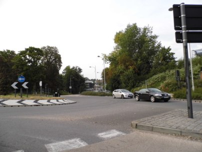 """The roundabout at Marlpit Lane: a second access road from Cane Hill, and away from this often congested junction, is """"essential"""" for Coulsdon"""