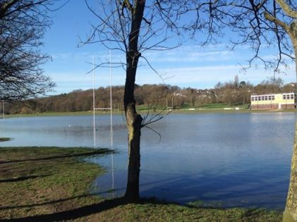 The rugby season at Beccehamians at Sparrows Den is pretty much over, after the playing fields were turned into an emergency floodwater storage pond this week