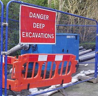 In the car park next to Whyteleafe Station, and works continue to deal with culverts and what John O'Brien describes as a foul smelling open sewer