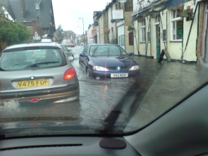 How a flash flood affected the area bordering Waddon as recently as 2007. Dropped kerbs have been shown to make the chances of