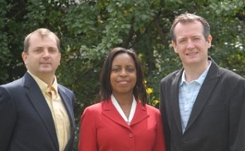 Under threat? Labour's three Addiscombe councillors, from left, Mark Watson, Patricia Hay-Justice and Sean Fitzsimons