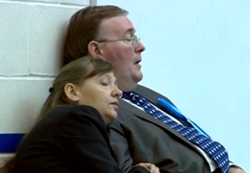 Croydon Tory leader Mike Fisher dozing off at the election count last week: he had been sleep-walking towards defeat for some time