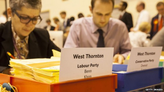 The local election count in Croydon on May 22: this picture shows Jo Negrini, left, the council's development director, earning a bit of extra pin money by helping out on the night. This, according to Croydon Council, is a private matter
