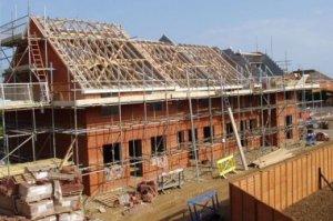 council houses building