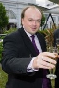 Ex-councillor Simon Hoar in happier times, when he was celebrating the news that he could claim more council allowances