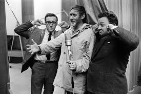The original Goons in one of their later revivals: Peter Sellers, Spike Milligan and Harry Secombe