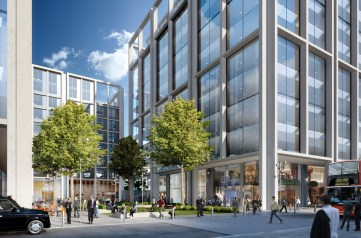 The revised plans for Ruskin Square are much more restrained than the original proposal for 2msqft of office space