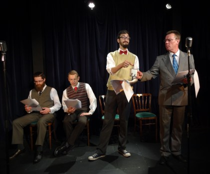 The Goon Show on stage again, featuring Seagoon, Bluebottle, Milligan and some other bloke