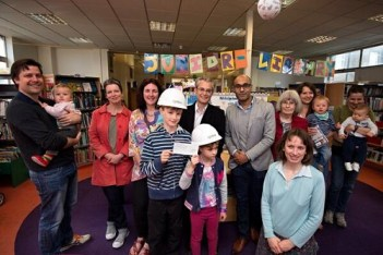 Robert Gibson, centre of group, has helped organise a series of community events such as this, in and around Upper Norwood Library