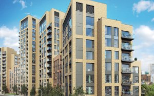 """What developers Redrow call the """"Morello Quarter"""", their development at East Croydon which will have separate entrances for social housing and private residents"""
