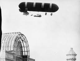 An airship floats by the Crystal Palace in 1907. Find out more about the area's part in aeronautical history at one of the Norwood Society Talks