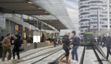 Connected Croydon's artist's impression of what East Croydon Station will look like after they've spent £5m. That is, not much different