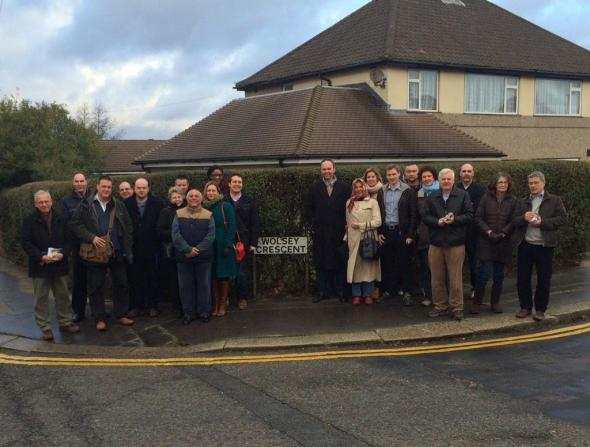 Conservatives canvassing in New Addington last weekend.