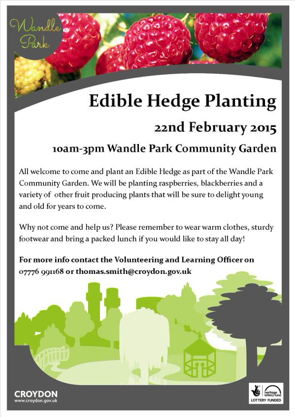 edible hedge poster