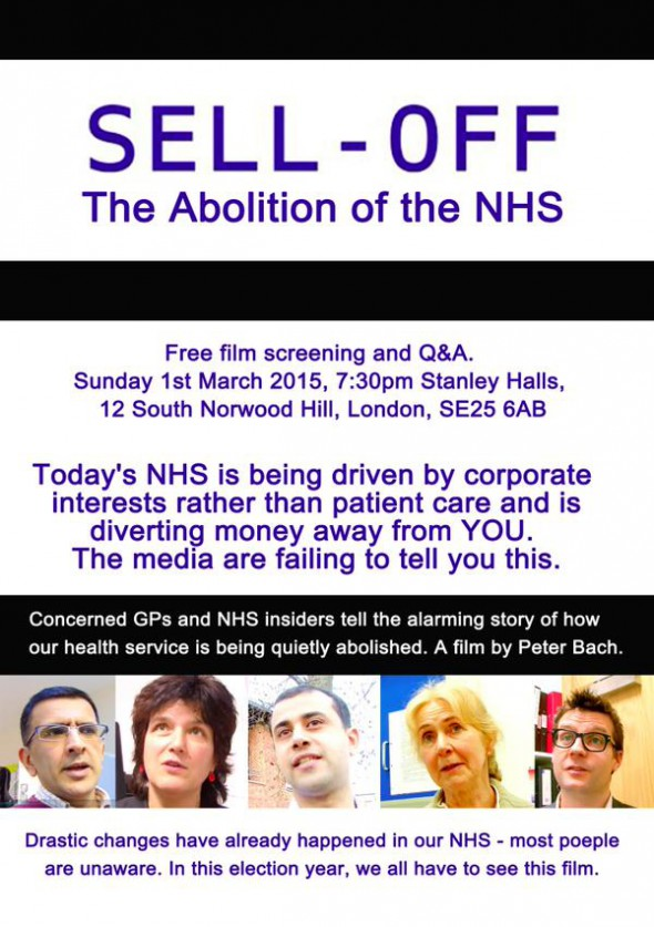NHS sell-off poster