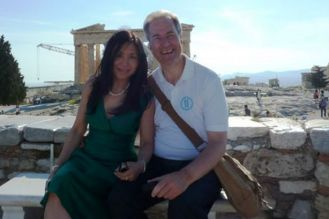 Xuelin and Michael Bates. They've helped run Chinese interests in London developments since their 2012 wedding