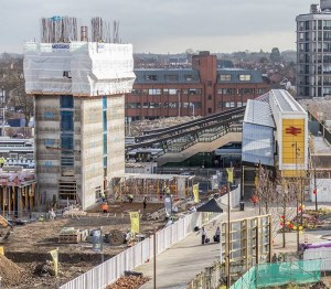 The Ruskin Square first phase of residential development at East Croydon: when finished, it will include Poor Doors
