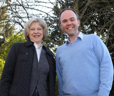 The Home Secretary is one of the Tory ministers to vist Barwell's campaign: or was she seeking his support in her Tory Party leadership bid?