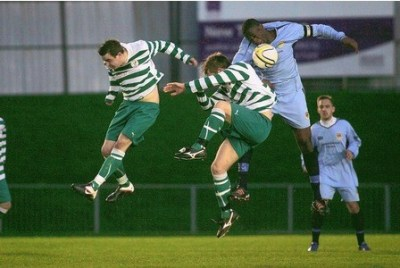 Action from a recent Croydon FC fixture. Saturday's home game will decide whether the club avoids relegation
