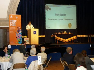 District Commissioner Steve French compering last week's awards evening