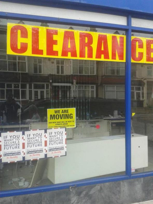 Clearance sale Tories