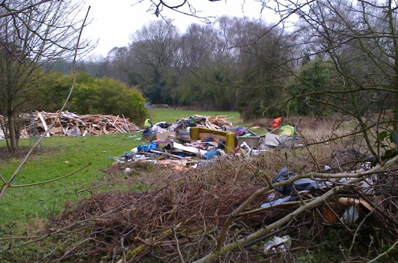 Some of the mounting mess at Coombe Farm, in Lloyd Park, which the council has failed to act upon