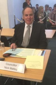 "Sutton councillor Nick Mattey, isolated by the LibDems on the ""naughty step"" at the last Sutton Council meeting for revealing secret details of the incinerator schemes"