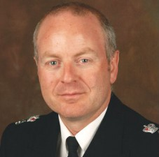 Evening all: Croydon's Borough Commander Andy Tarrant